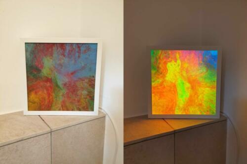 LED Rahmenlampe Regenbogenfarben